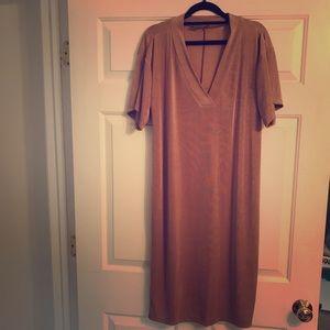 ASOS rose gold dress